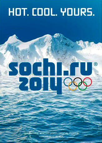 Sochi Russia 2014 Winter Olympic Games Official Poster Reproduction - Olympic Museum