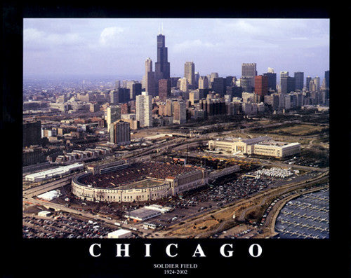 "Soldier Field ""Classic Aerial"" Chicago Bears Poster Print - Aerial Views 2002"