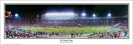 Chicago Bears Old Soldier Field c.1992 Premium Panoramic Poster Print - Everlasting Images