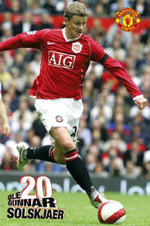 "Ole Gunnar Solskjaer ""Action"" Manchester United EPL Poster - GB Posters 2007"