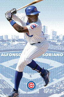 "Alfonso Soriano ""Wrigley Superstar"" Chicago Cubs Poster - Costacos 2007"