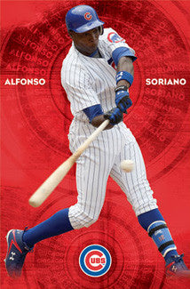 "Alfonso Soriano ""Slugger"" Chicago Cubs Poster - Costacos 2010"