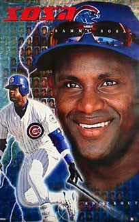 "Sammy Sosa ""Knockout"" Chicago Cubs Poster - Costacos 2000"