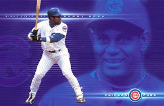 "Sammy Sosa ""Blue"" Chicago Cubs MLB Action Poster - Costacos 2001"