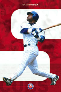 "Sammy Sosa ""Gone Deep"" Chicago Cubs Poster - Costacos 2003"