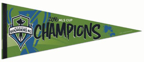 Seattle Sounders 2016 MLS Soccer Champions Premium Felt Commemorative Pennant - Wincraft