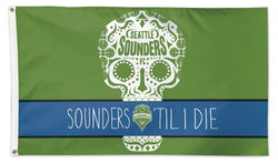 "Seattle Sounders ""Til I Die"" Official MLS Soccer Deluxe-Edition 3'x5' Team Flag - Wincraft"