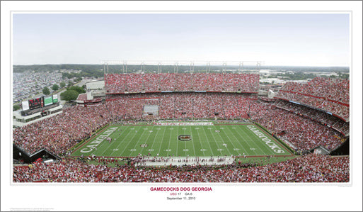 "South Carolina Football ""Gamecocks Dog Georgia"" Panoramic Poster Print (9/11/2010)"