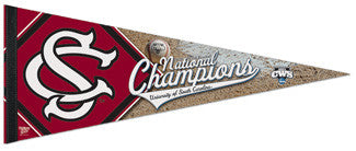 South Carolina Gamecocks 2010 CWS National Champions Commemorative Pennant