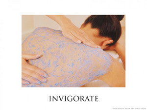 "Spa Series ""Invigorate"" Inspirational Poster Print - Fitnus Corp."