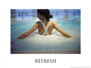 "Spa Series ""Refresh"" Inspirational Poster Print - Fitnus Corp."