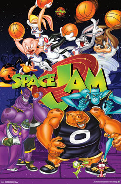 Space Jam 20th Anniversary Commemorative Poster (Tune Squad vs. Monstars) - Trends International
