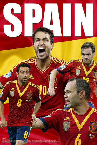 "Spain World Cup 2014 ""Power Four"" (Mata, Iniesta, Xavi, Fabregas) Soccer Poster - Starz"