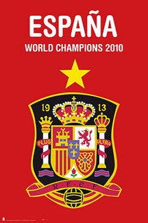 "Team Spain Soccer ""World Cup Champions 2010"" Commemorative Poster - Grupo Erik S.L."