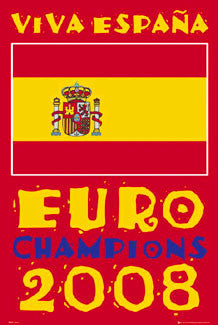 "Team Spain Euro 2008 Soccer Champions ""Viva Espana"" Poster - GB Eye"