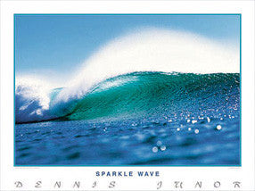 "Surfing ""Sparkle Wave"" Ocean Wave Poster Print - Creation Captured"
