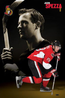 "Jason Spezza ""Hero"" Ottawa Senators Poster - Costacos Sports"