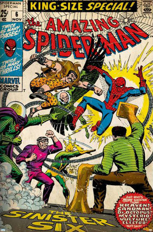 The Amazing Spider-Man Annual #6 (Nov. 1969) Marvel Comics Cover Reproduction POSTER - Trends