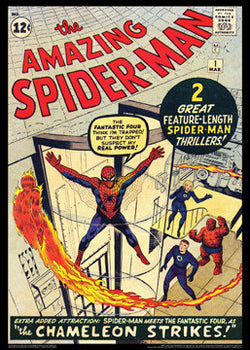 The Amazing Spider-Man #1 (March 1963) Vintage Cover Reprint Poster