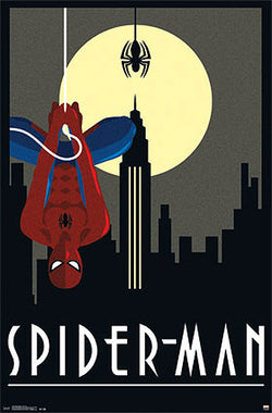 "Spider-Man by Marvel Comics ""Art Deco"" Decorative Collectible Wall Poster - Trends International"