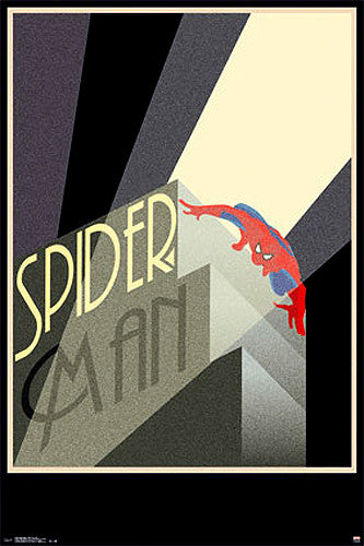 "Spider-Man ""Retro Spotlight"" Art Deco-style 24x36 Collectible Wall Poster - Trends International"