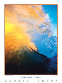 "Surfing ""Spindrift Curl"" Ocean Wave Poster Print - Creation Captured Inc."