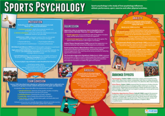 Sports Psychology Physical Education Wall Chart Poster - Daydream Education