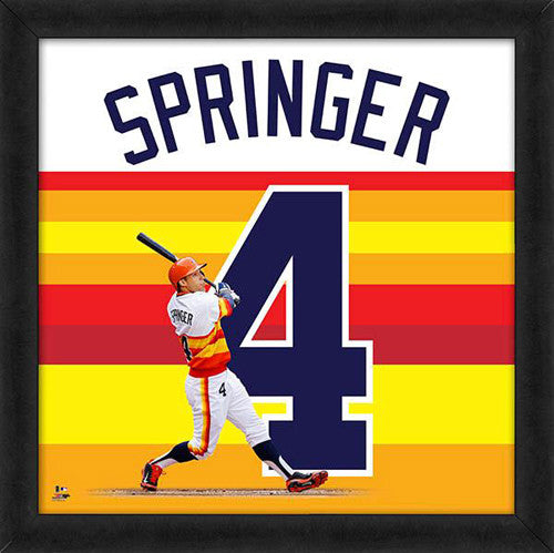 "George Springer ""Number 4"" Houston Astros FRAMED 20x20 UNIFRAME PRINT - Photofile"