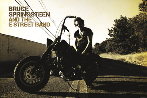 Bruce Springsteen and the E-Street Band Greatest Hits (2009) Album Cover Poster (Bruce on Harley)