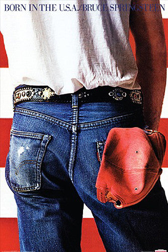 Bruce Springsteen Born in the USA Album Cover Poster - Aquarius