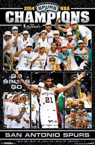 San Antonio Spurs 2014 NBA Championship CELEBRATION Poster - Costacos Sports