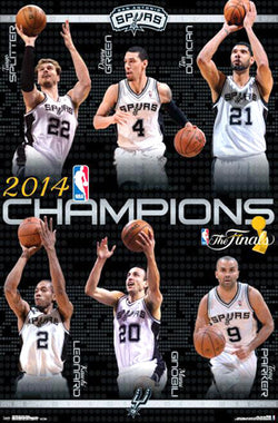 San Antonio Spurs 2014 NBA Champions Commemorative Wall Poster - Trends International