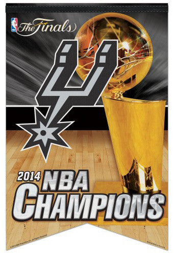 San Antonio Spurs 2014 NBA Champs Premium Felt Commemorative BANNER