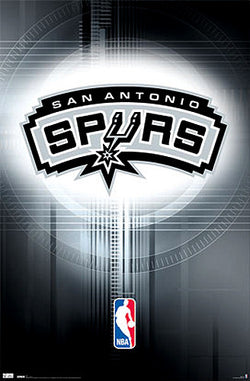 San Antonio Spurs Official NBA Team Logo Poster - Costacos Sports
