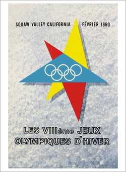 Squaw Valley 1960 Winter Olympic Games Official Poster Reprint - Olympic Museum