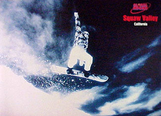 """Squaw Valley"" Snowboarding - Pyramid Posters 1995"