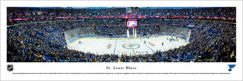 St. Louis Blues Enterprise Center NHL Game Night Panoramic Poster Print - Blakeway 2016