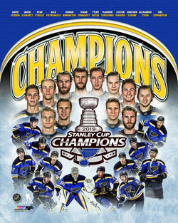 St. Louis Blues 2019 Stanley Cup Champions 12-Player Commemorative Premium Poster - Photofile Inc.