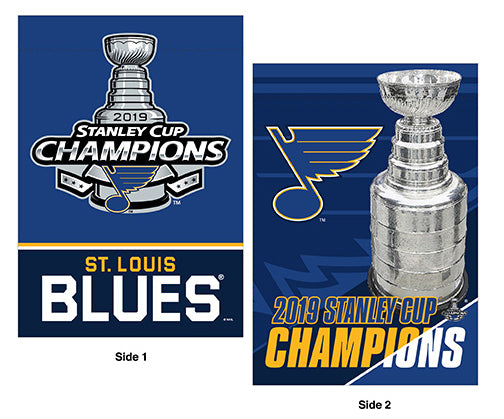 St. Louis Blues 2019 NHL Stanley Cup Champions Commemorative Banner Flag (28x40 2-Sided)