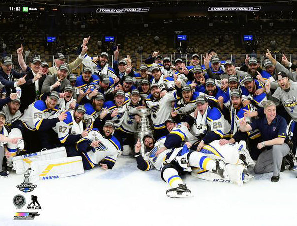 *SHIPS 6/20* St. Louis Blues 2019 Stanley Cup Champions CELEBRATION ON ICE Premium Poster Print - Photofile Inc.