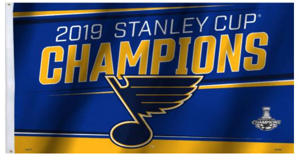 *SHIPS 6/26* St. Louis Blues 2019 Stanley Cup Champions Limited-Edition 3'x5' FLAG - BSI Products Inc.