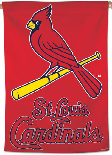 St. Louis Cardinals Official MLB Team Logo Premium 28x40 Wall Banner - Wincraft Inc.