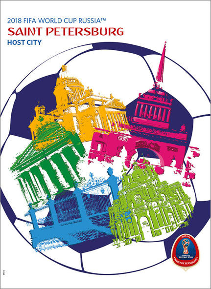 FIFA World Cup 2018 Russia Official Host City Poster (St. Petersburg) - Sports Endeavors