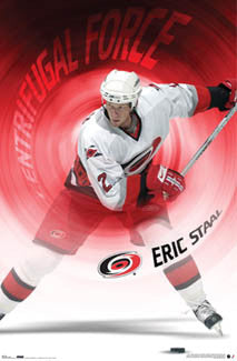 "Eric Staal ""Centrifugal Force"" Carolina Hurricanes Poster - Costacos 2006"