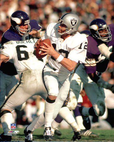 "Ken Stabler ""Super Bowl Classic"" (1977) Oakland Raiders Premium Poster - Photofile Inc."