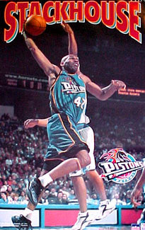 "Jerry Stackhouse ""Action"" Detroit Pistons Poster - Starline 2001"