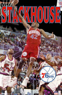 "Jerry Stackhouse ""Sixers Star"" (1996) Philadelphia 76ers Poster - Starline Inc."