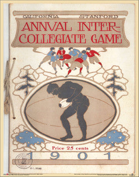 "Stanford vs. Cal Bears Football ""Big Game 1901"" Vintage Program Cover Poster Print - Asgard Press"