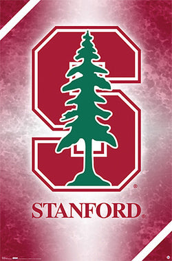 Stanford University Cardinal Official NCAA Team Logo Poster - Costacos Sports