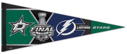 Dallas Stars vs Tampa Bay Lightning 2020 NHL Stanley Cup Finals Premium Felt Pennant - Wincraft Inc.